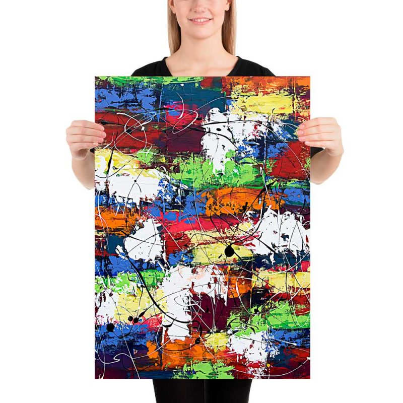 Elegante Art Prints mit abstrakter Kunst Vibrant Moor I 50x70 cm