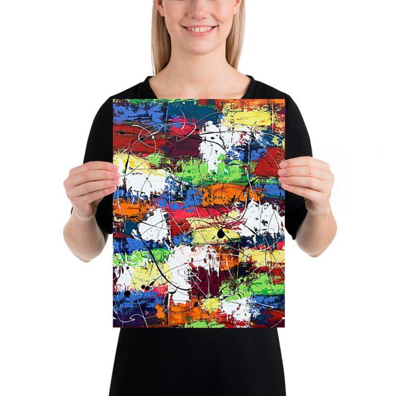Trendige Wandposter mit moderner Kunst Vibrant Moor I 30x40 cm