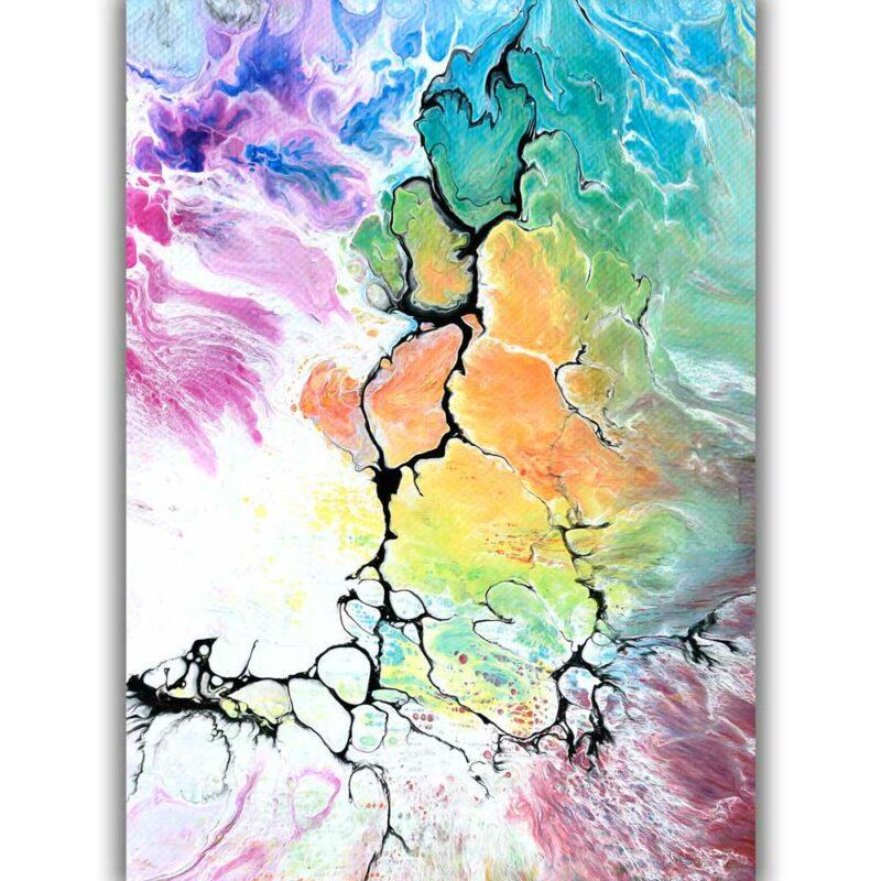 Kunst Plakat in tollen Farben und Design Altitude IV