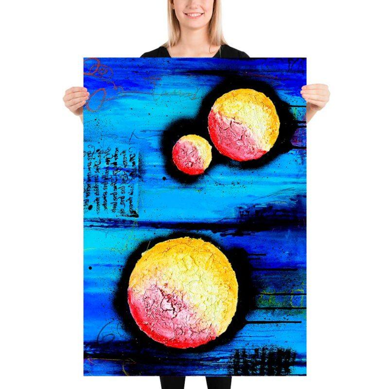Stilvolle Fine Art Prints mit abstrakter Kunst Sphere I 70x100 cm