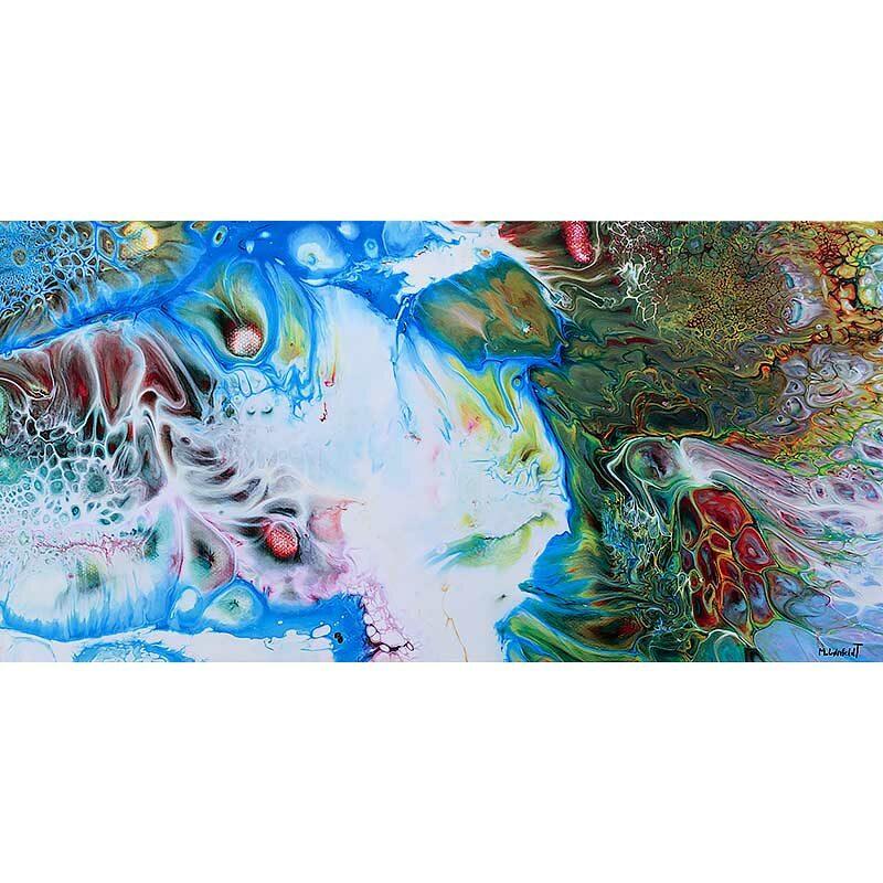Bilder für die Wand mit abstrakter Kunst Essentials I 70x140 cm