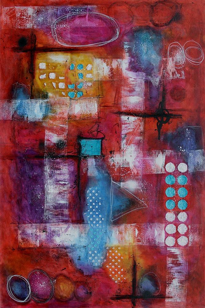 Abstrakte Wand Bilder in Großformat sind zeitlose gegenwärtige Kunst Intuition I 150x100 cm
