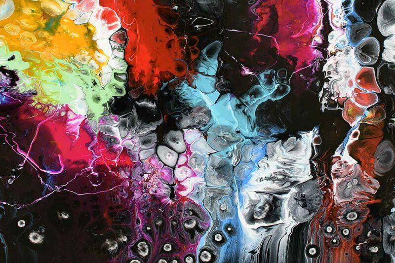 Ausschnitt aus Premium Malerei in Galerie-Qualität Lights I 70x140 cm