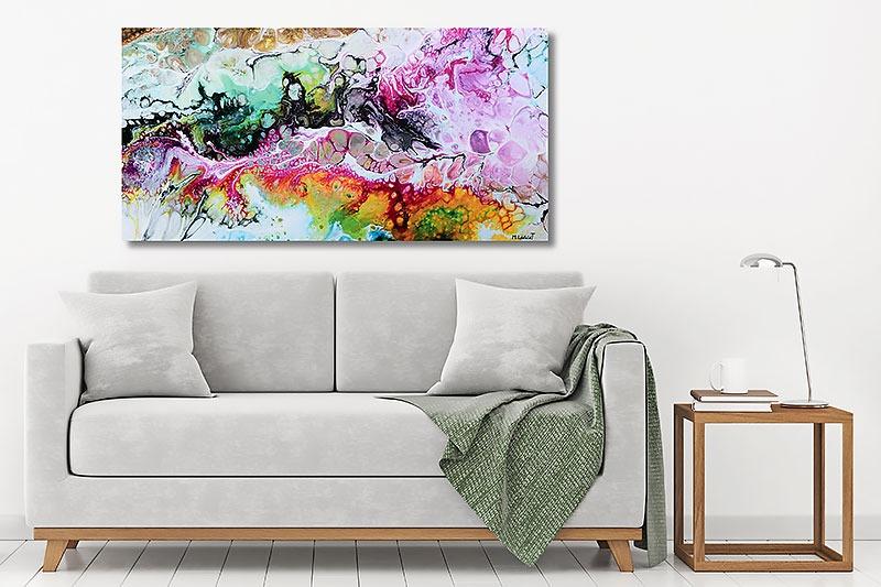 Bilder auf Leinwand für Wohnzimmer Fragments I 70x140 cm