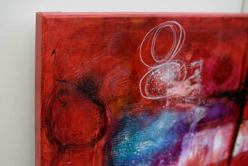 Echte Handarbeit modernes abstraktes Wandbild Intuition I 150x100 cm