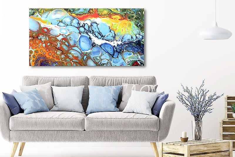 Große Leinwandbilder XXL für die Wohnzimmerwand Fragments II 70x140 cm