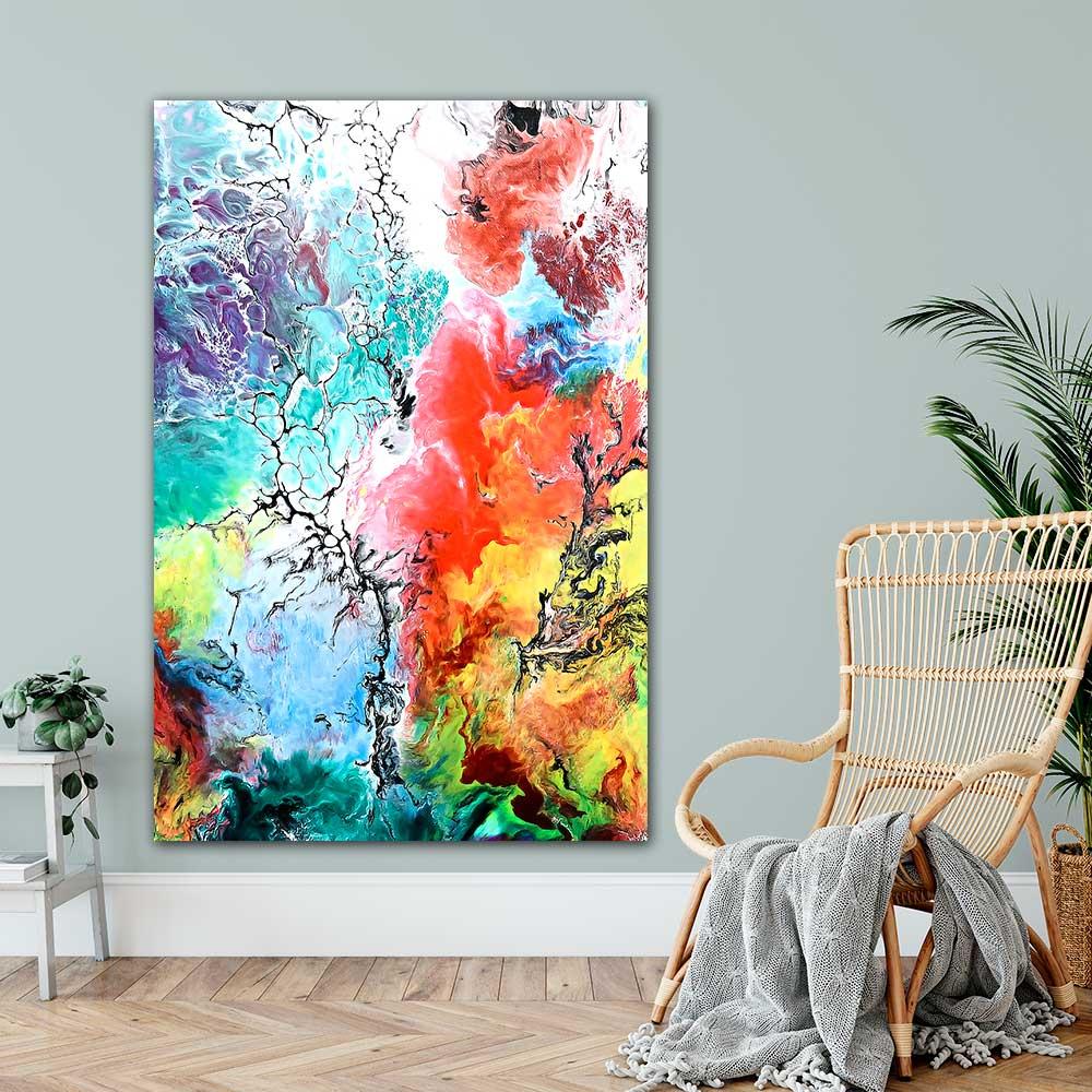 Große Poster XXL mit Kunst für die Wohnung Altitude III 100x150 cm