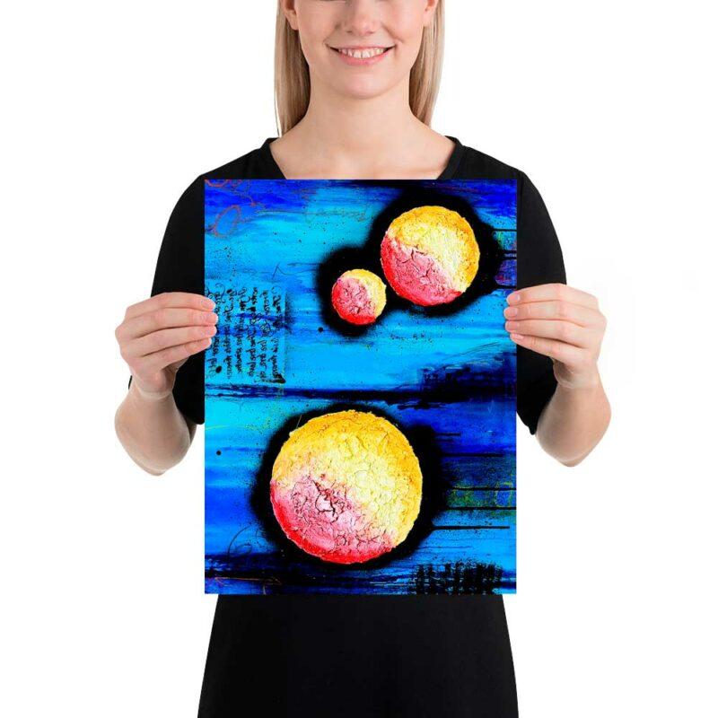 Kleine Kunst Plakate für die Küche Sphere I 30x40 cm