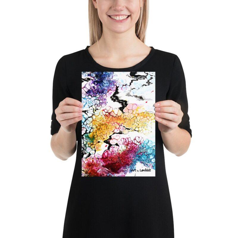 Kleine Plakate mit bunte Kunstmotive Altitude I 21x30 cm