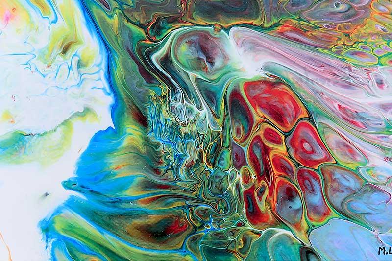 Kunst in abstrakter Design Essentials I 70x140 cm