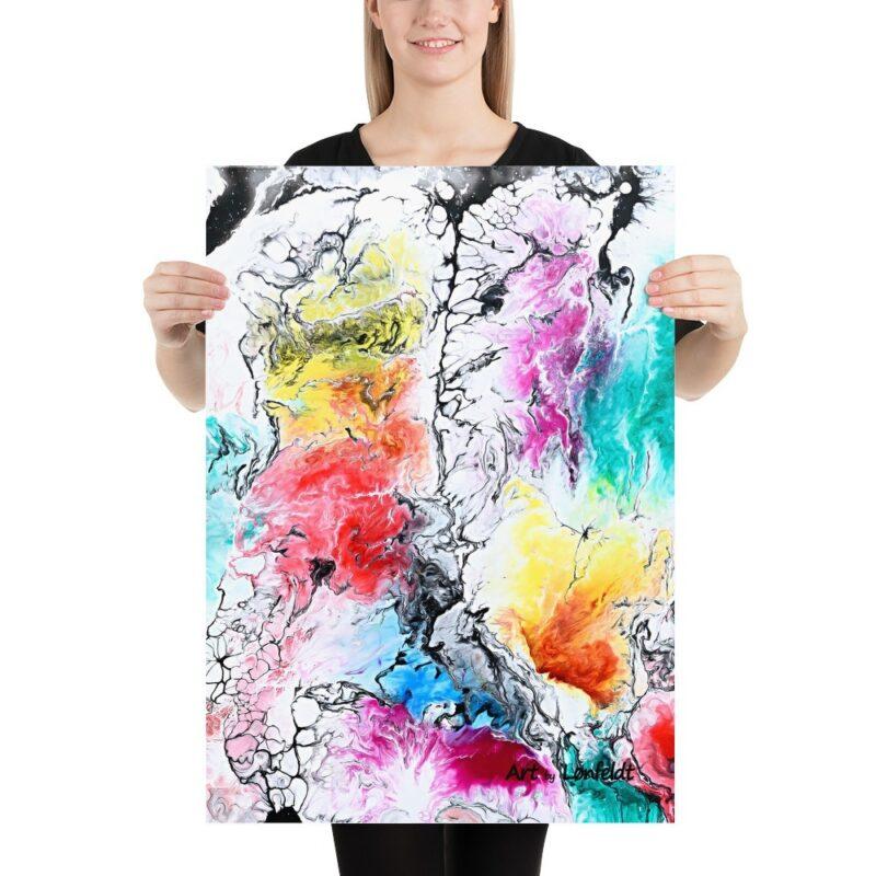 Kunst Poster in schöne Farben Altitude II 50x70 cm