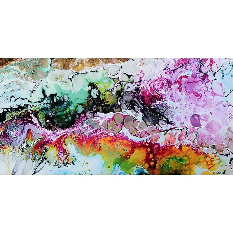 Kunstdruck mit moderner Kunst Fragments I 70x140 cm