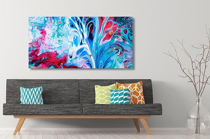Leinwandbilder in trendigen Farben für die Wohnzimmerwand Essentials III 70x140 cm