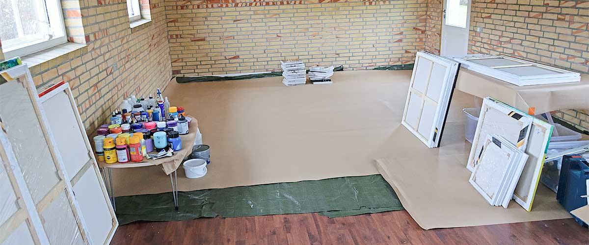 Mein Atelier wo ich die Gemälde malen