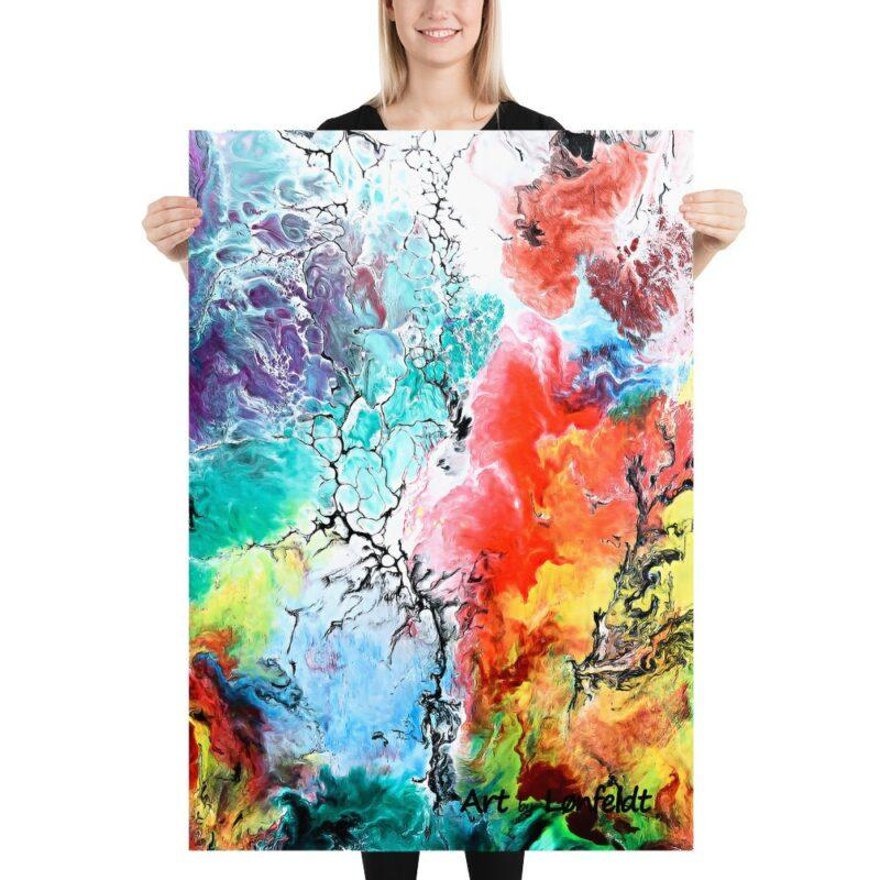 Plakat mit moderne Kunst für Zuhause Altitude III 70x100 cm