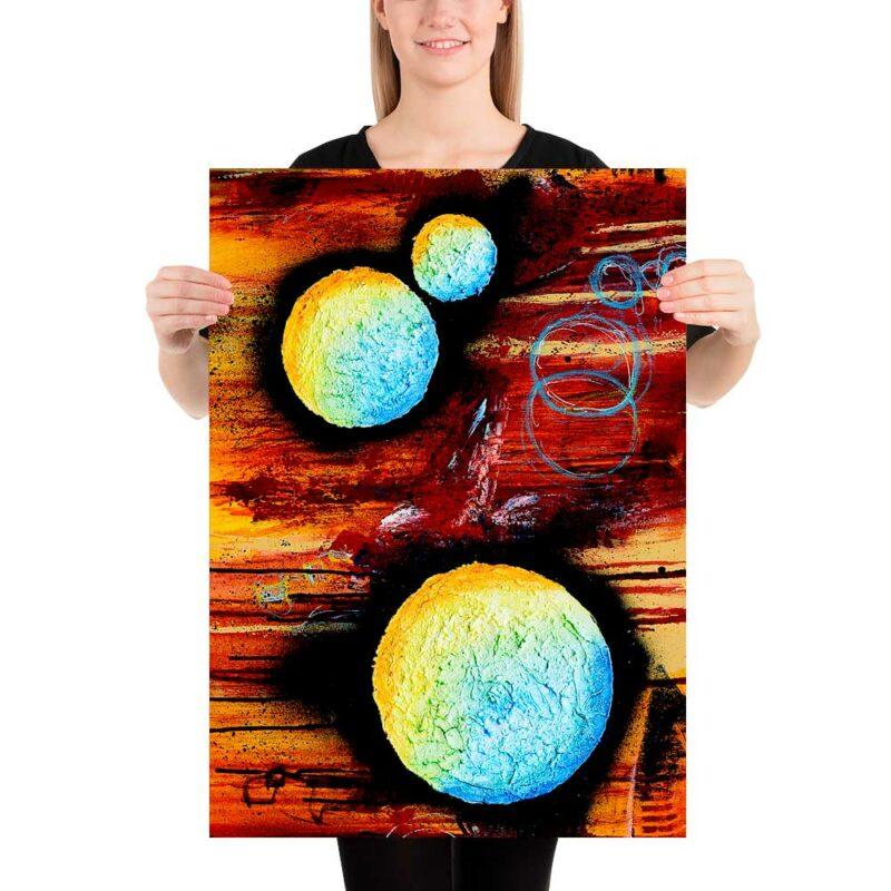Poster mit Kunst für die Wände in der Wohnung Sphere II 50x70 cm