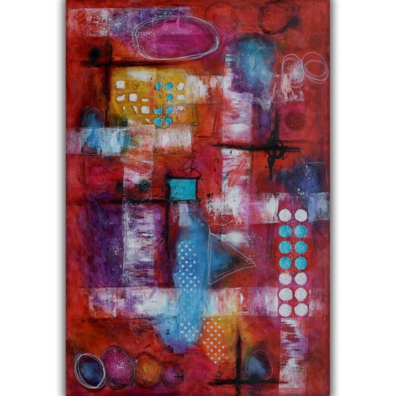 Premium originale Wand Bilder auf Leinwand für Zuhause Intuition I 150x100 cm