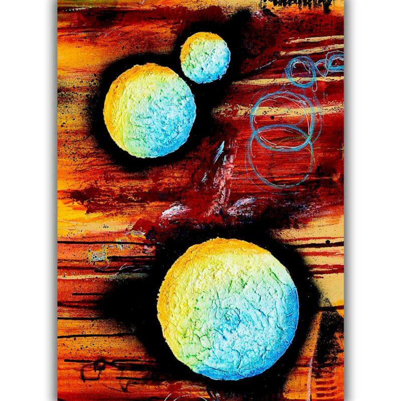 Wunderschönes Kunstplakat fürs Badezimmer Sphere II