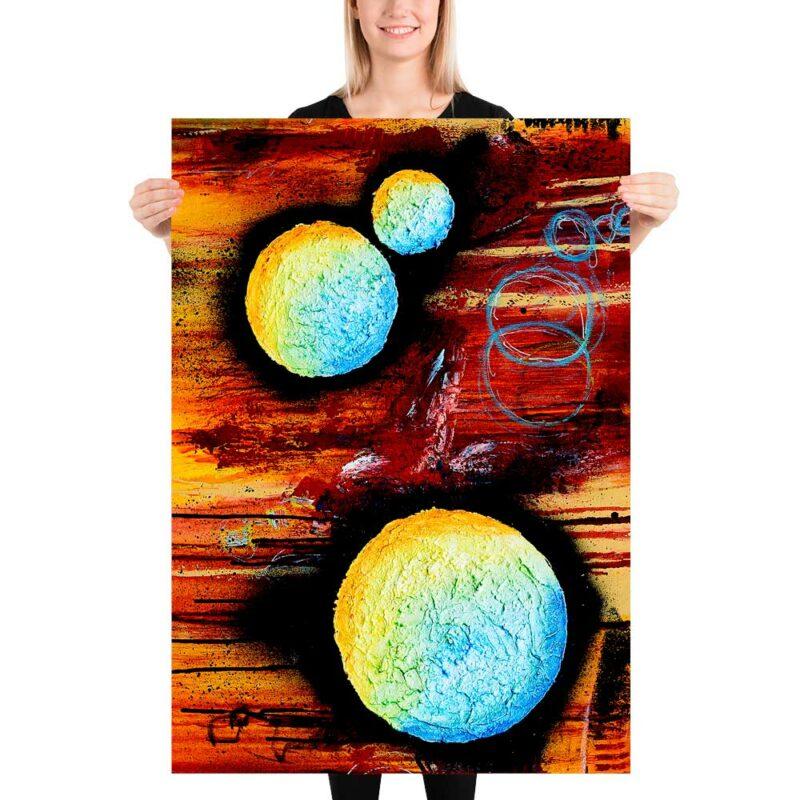 Zeitlose Wandposter fürs Schlafzimmer Sphere II 70x100 cm