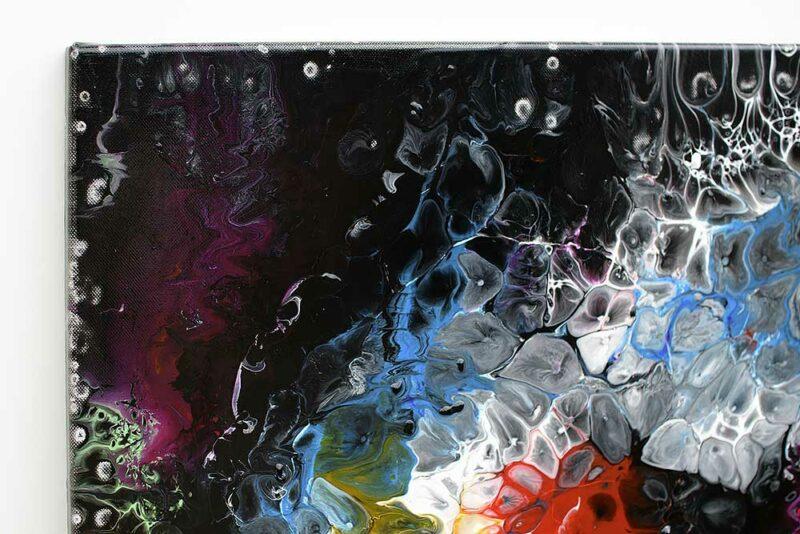 Zoom Ansicht von einem Acrylmalerei mit abstraktem Design Lights I 70x140 cm