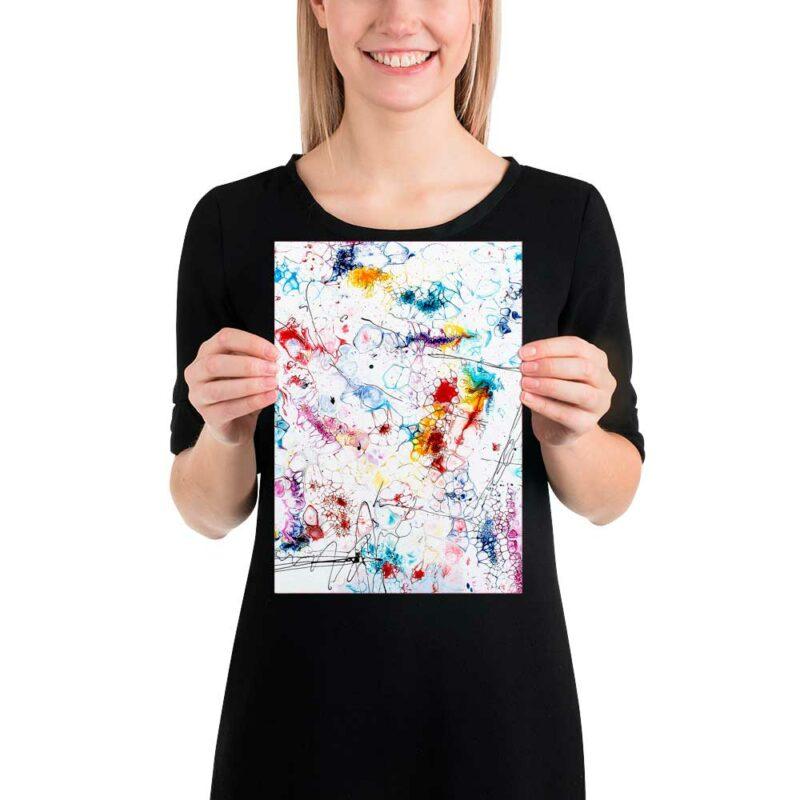 Abstrakte Art Poster für Bilderwand und Wanddeko Elevation II 20x30 cm
