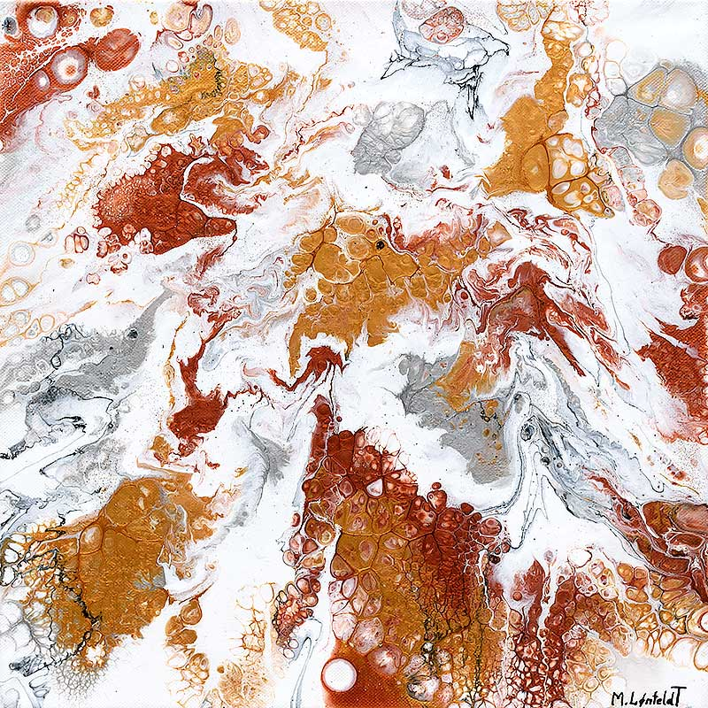 Bild in Gold Silber Kupfer schimmernden Farben Precious VII 40x40 cm