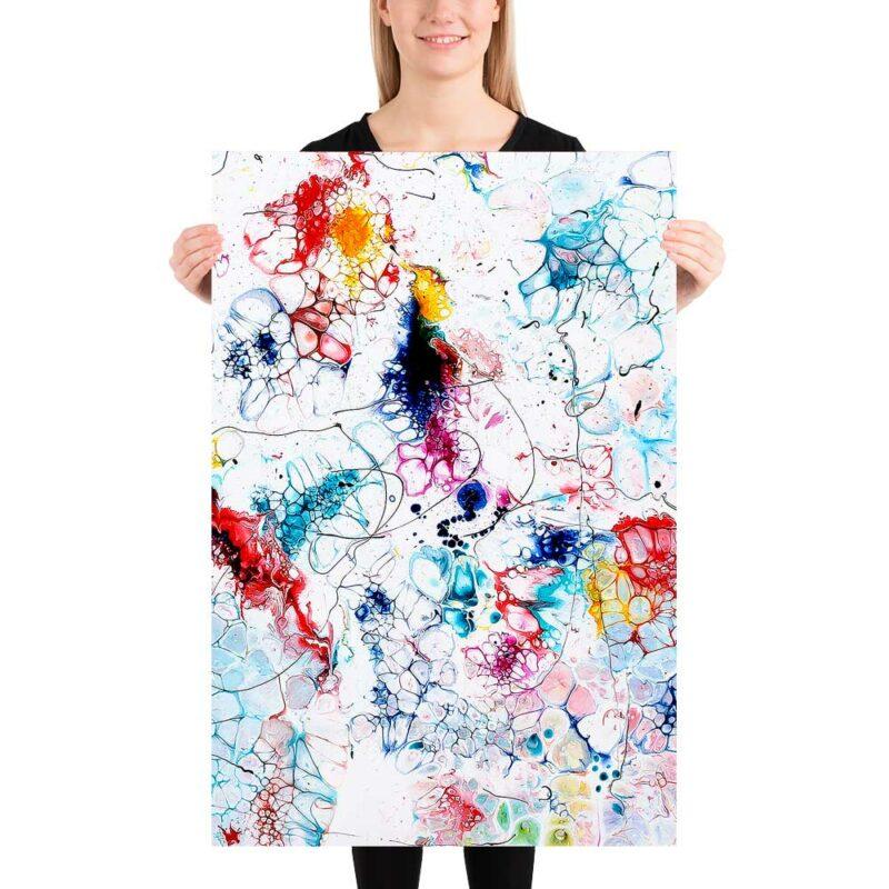 Elegantes Kunst Poster die Farben ins Haus bringen Elevation I 60x90 cm