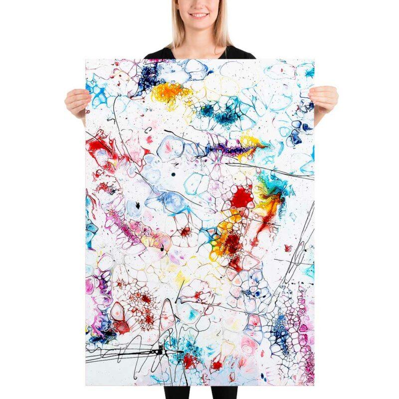Farbreiches Art Poster mit vielen Details und wunderschönen Farben Elevation II 70x100 cm