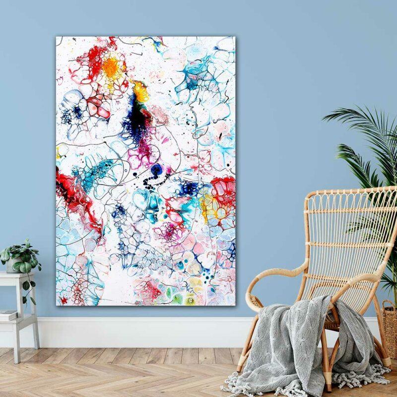 Grosse Kunst Poster XXL mit nonfigurativer Kunst für die Wohnung Elevation I 100x150 cm