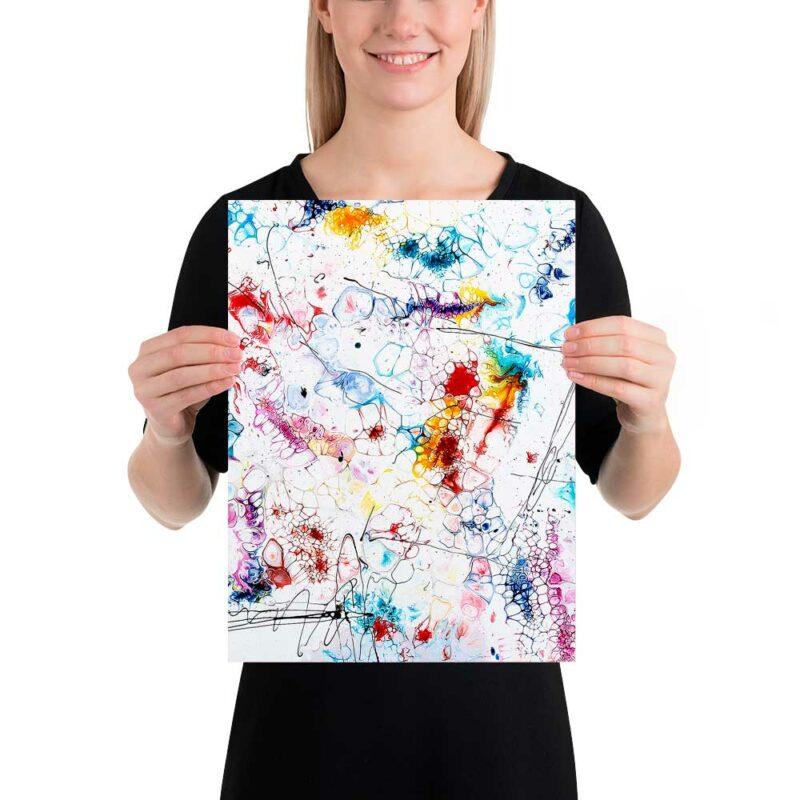 Kleine Art Poster in inspirierenden Farben mit vielen kleinen Details Elevation II 30x40 cm