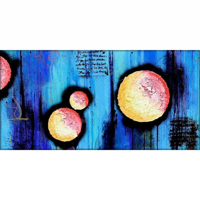 Moderne Bilder auf Leinwand mit abstraktem Motiv in hoher Qualität Sphere I 70x140 cm