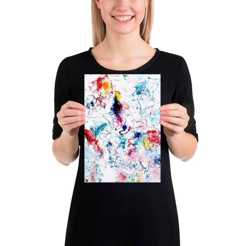 Moderne Kunst Poster im zeitlosen Stil mit klassischen Farben Elevation I 20x30 cm