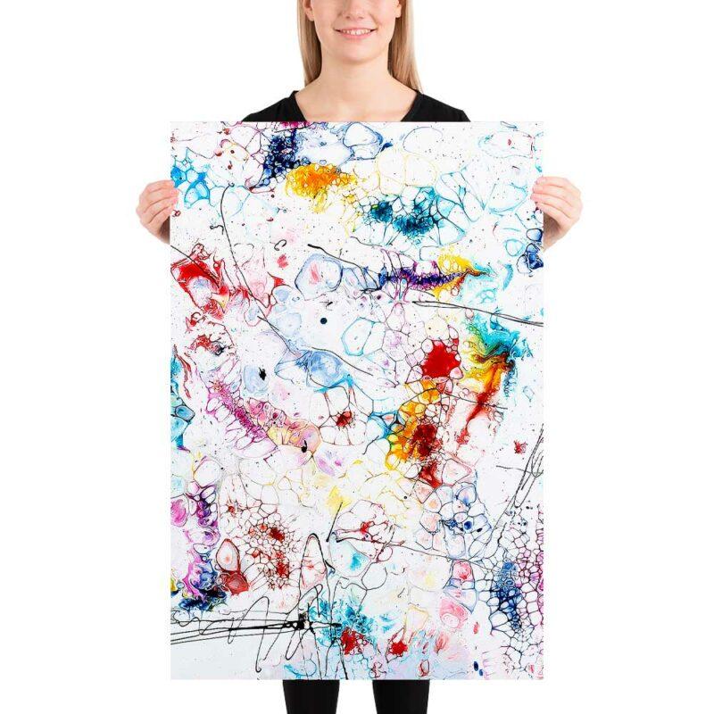 Zeitlose Art Poster in wechselvollen bunten Farben Elevation II 60x90 cm