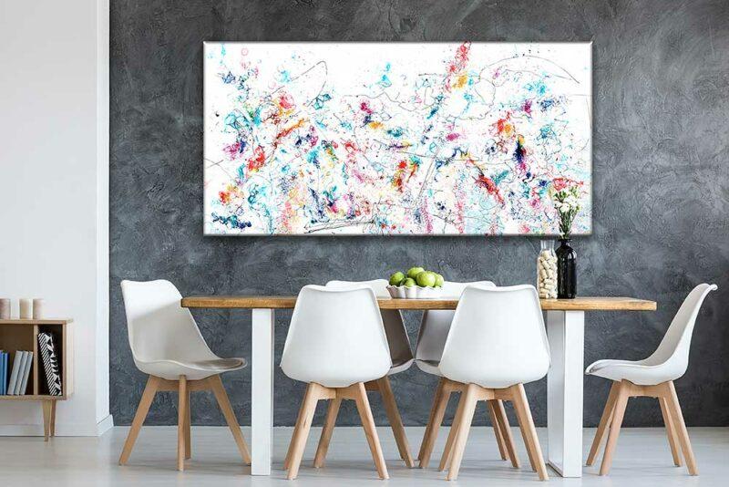 Handbespannter Druck auf Leinwand Kunst für die Küche Prime VII 70x140 cm