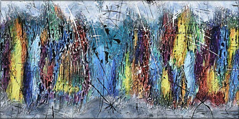 Leinwanddruck XXL abstrakte Kunst in einer exklusiven Qualität Downtown I 70x140 cm