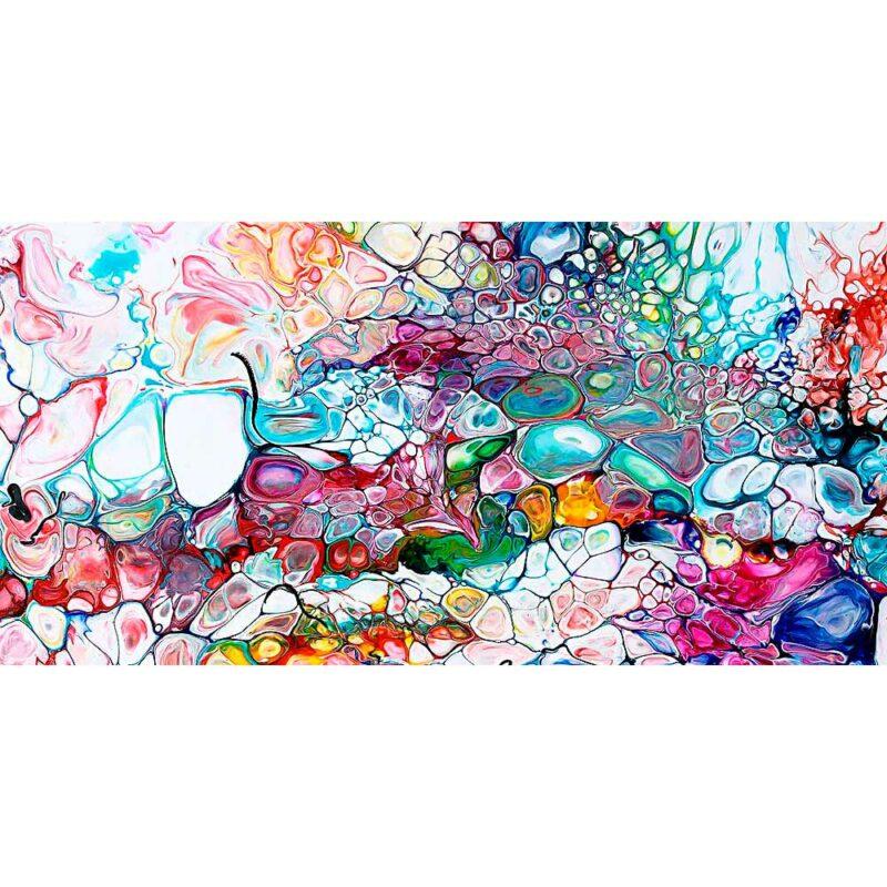 Moderne Kunst auf Leinwand in aktuellen Farben Prime I 70x140 cm