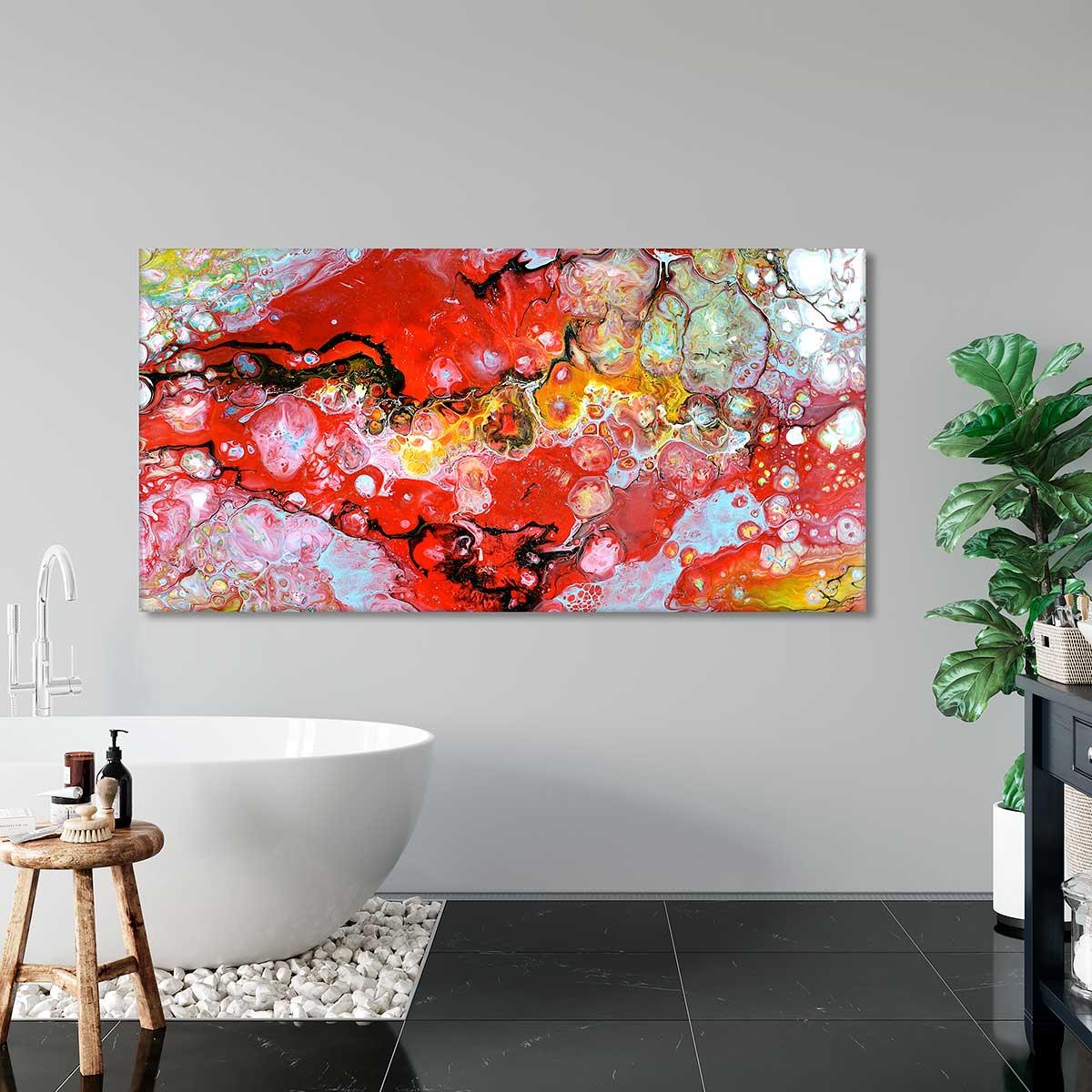 Moderne Kunst Bilder auf Leinwand für das Badezimmer