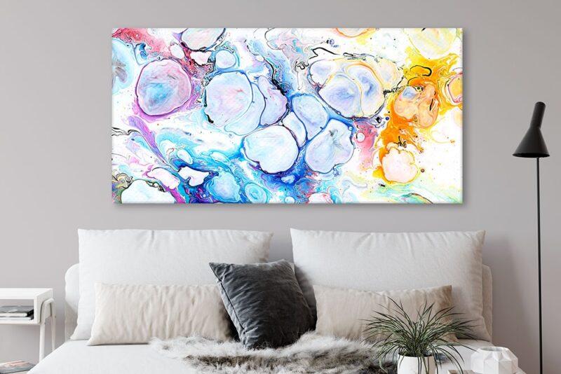 Moderner Kunstdruck XXL für die Wände über das Sofa Alleviate II 70x140 cm