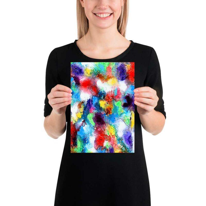 Kleine Poster in bunten Farben für deine Bilderwand Alteration I 20x30 cm