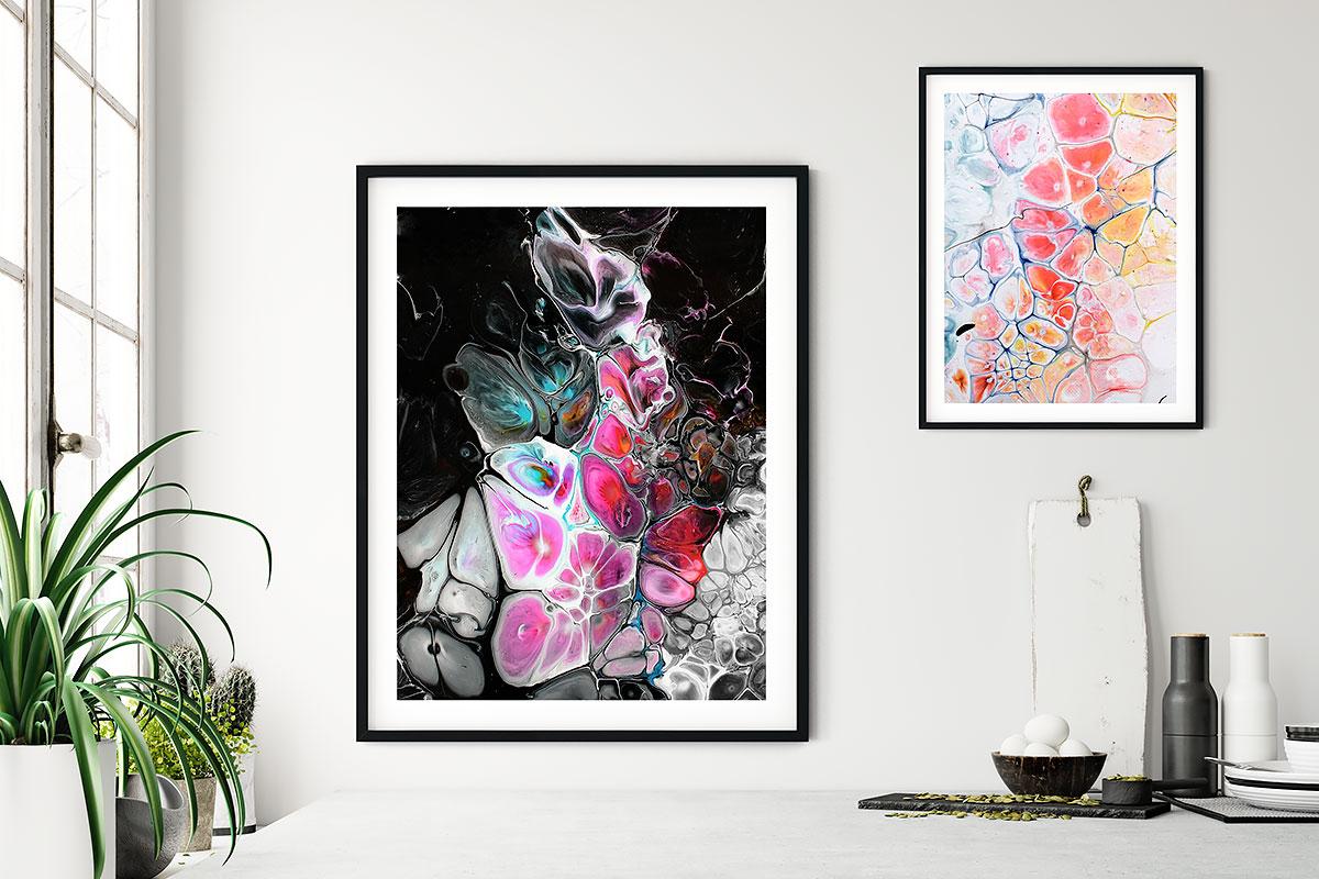 Küchenposter mit abstrakter Kunst