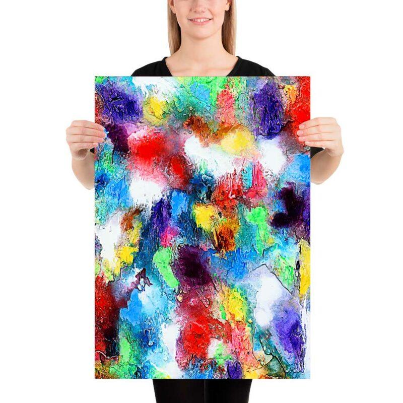 Poster in bezaubernden roten blauen und grünen Farben Alteration I 50x70 cm