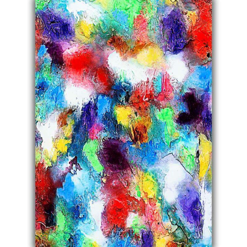 Posterxxl mit abstrakter Kunst in trendigen Farben Alteration I