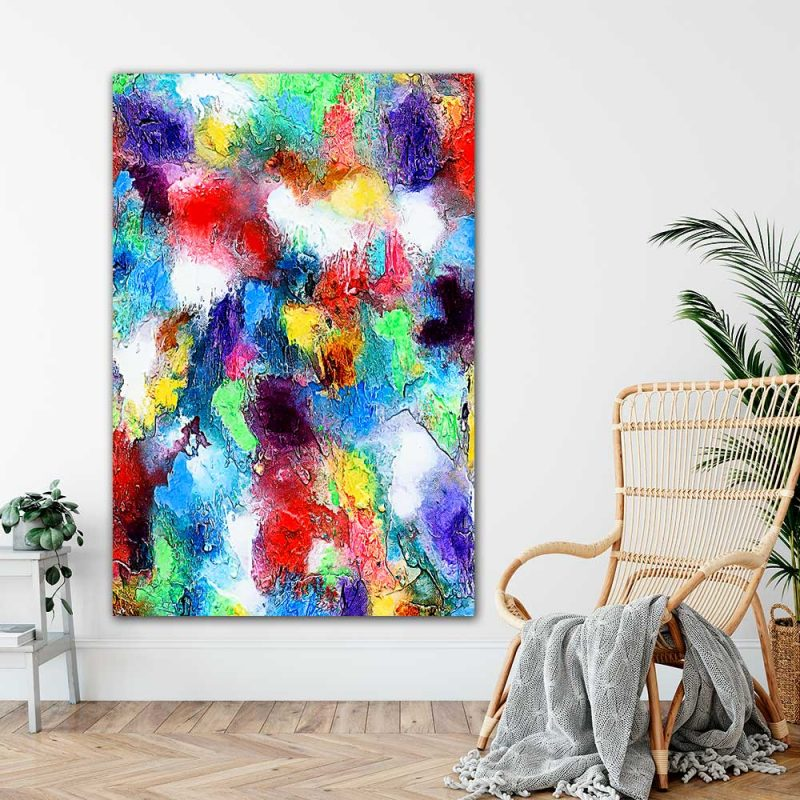 Posterxxl mit moderner Kunst für das Wohnzimmer Alteration I 100x150 cm