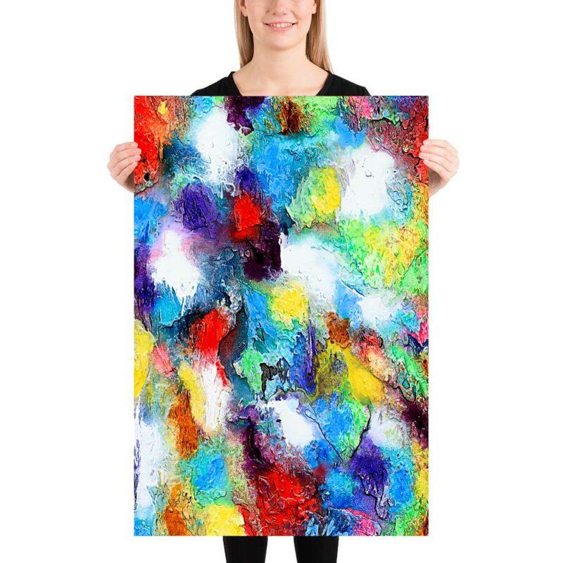 Wandposter in abstraktem Design Alteration II 60x90 cm