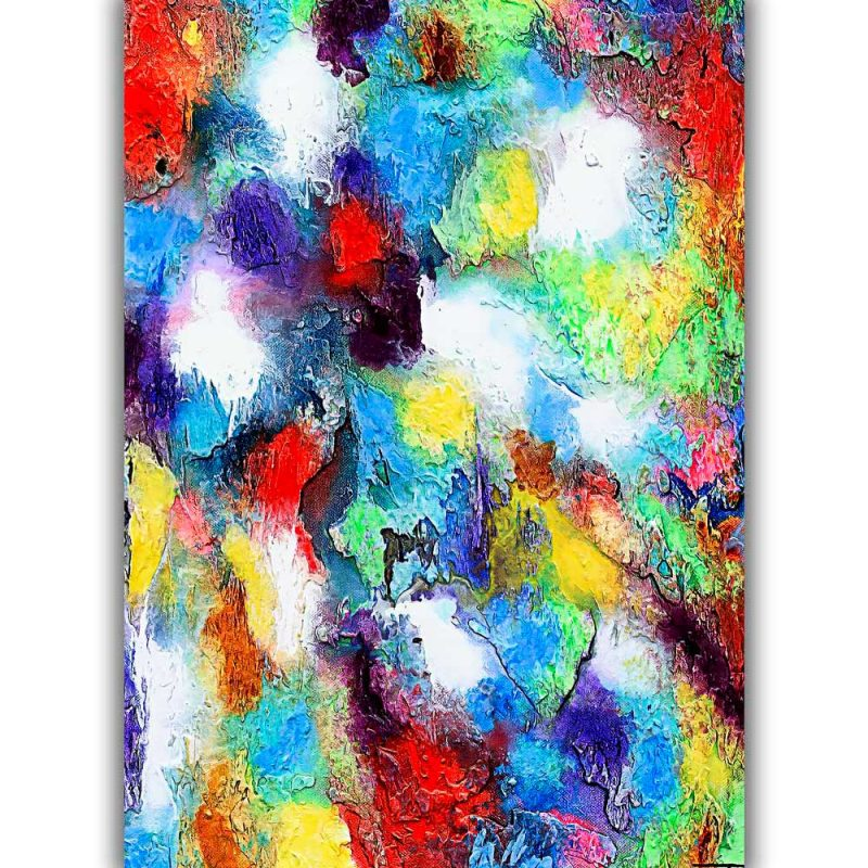 Wandposter mit moderner Kunst in trendigen Farben Alteration II