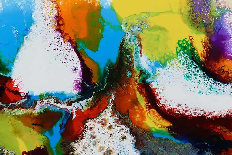 Ausschnitt aus einem großen Wandbild Brilliance I 100x100 cm