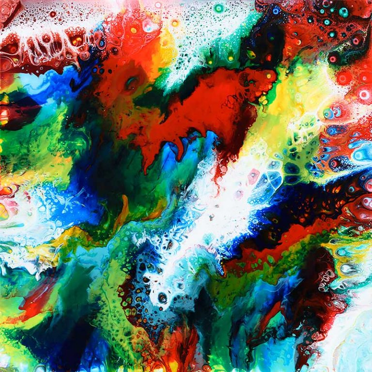 Buntes Acrylbild mit bezaubernden Farben Brilliance III 60x60 cm