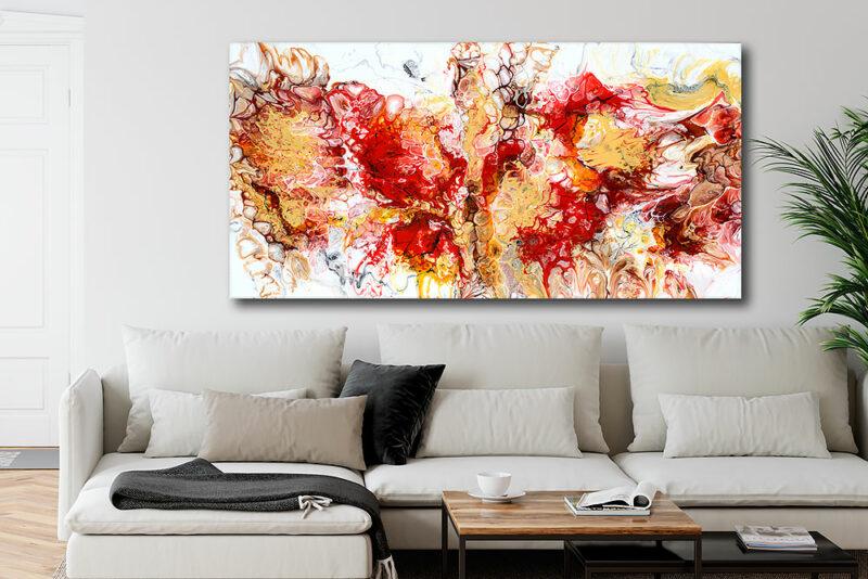 Buntes Leinwandbild für das Wohnzimmer Pulse I 70x140 cm