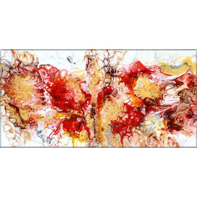 Buntes Leinwandbild in abstraktem Design Pulse I 70x140 cm