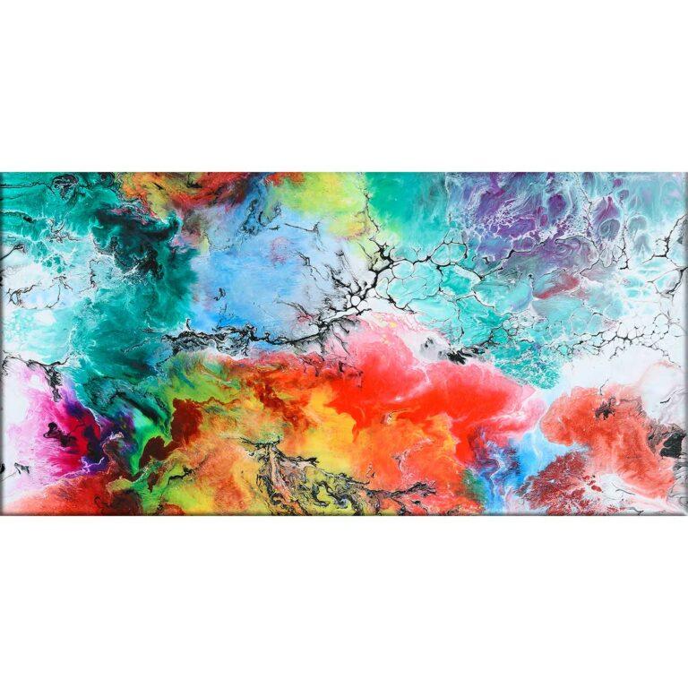 Farbenfrohes Leinwandbild mit abstrakter Kunst Altitude III 70x140 cm